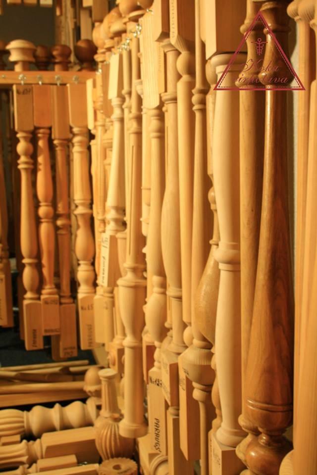 Gedrechseltes Holz